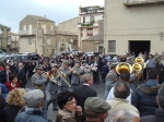A Forest Service band leads a procession during the inauguration of the goddess' exhibit in Aidone, Sicily.