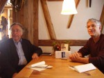 Ralph Frammolino interviewing Wolf-Dieter Heilmeyer on a reporting trip to Germany.