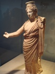 A terracotta Persephone on display in the same gallery as the goddess. Many experts now believe the Getty goddess is not Aphrodite.
