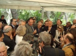 Italy's Culture Minister and other officials herald the return of the goddess at a press conference.