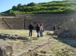 The Greek theater at the ruins of Morgantina.