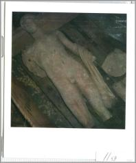This Polaroid seized from the warehouse of dealer Giacomo Medici shows the Getty Museum's Statue of Apollo shortly after it was looted from a tomb in Southern Italy.