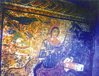 Orpheus mosaic in situ