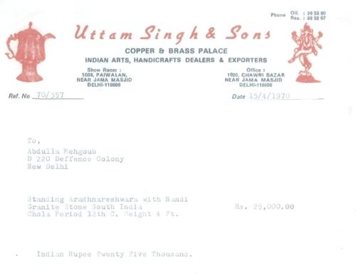 Ardhanarishvara receipt